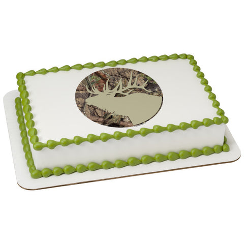 Mossy Oak Break Up Country Elk Edible Cake Topper Image