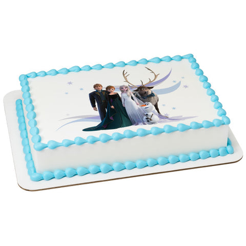 Disney Frozen II Enchanting Journey Edible Cake Topper Image