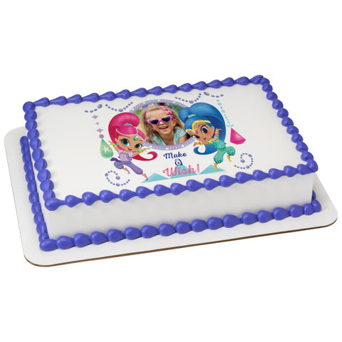A Birthday Place - Cake Toppers - Shimmer and Shine Gems & Jewels Edible Cake Topper Frame