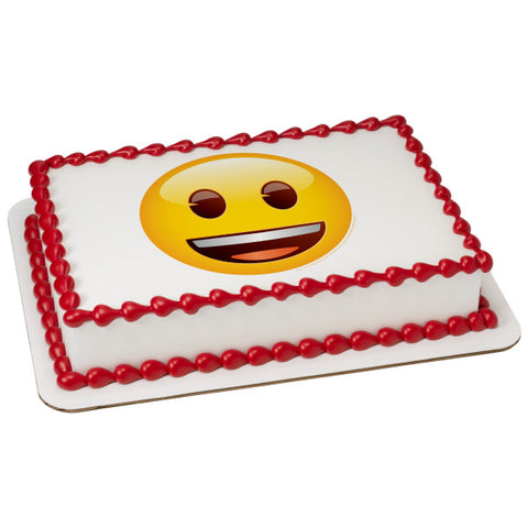 emoji® Smiley Edible Cake Topper Image