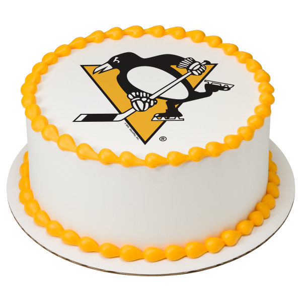 Terrific Nhl Pittsburgh Penguins Team Edible Cake Topper Image A Funny Birthday Cards Online Aeocydamsfinfo