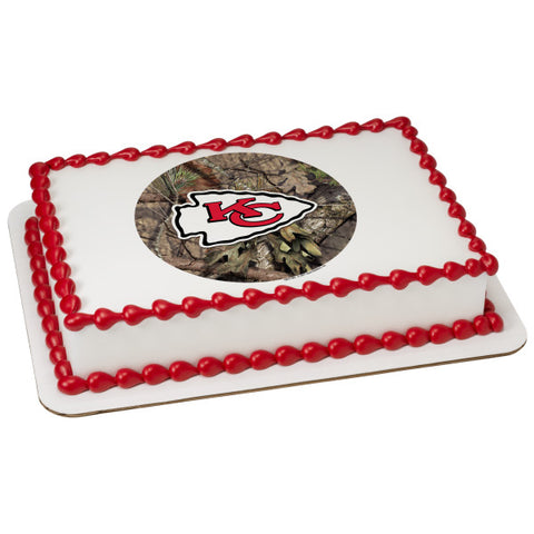 NFL Kansas City Chiefs Mossy Oak® Edible Cake Topper Image