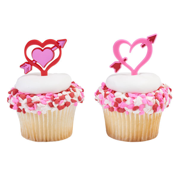 A Birthday Place - Cake Toppers - Heart Arrows Cupcake DecoPics®