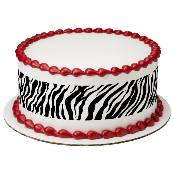 A Birthday Place - Cake Toppers - Safari Print Zebra Edible Cake Topper Image Strips
