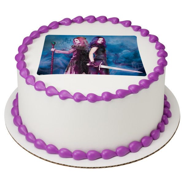 Descendants 3 Wicked Showdown Edible Cake Topper Image