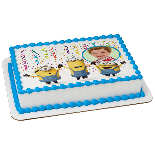Minions™ Party! Edible Cake Topper Image Frame