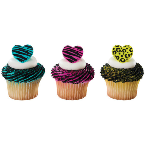 A Birthday Place - Cake Toppers - Wild About You Cupcake Rings