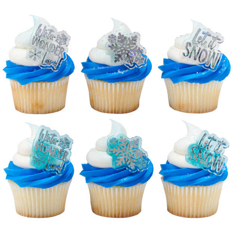 Winter Wonderland Assortment Cupcake Rings
