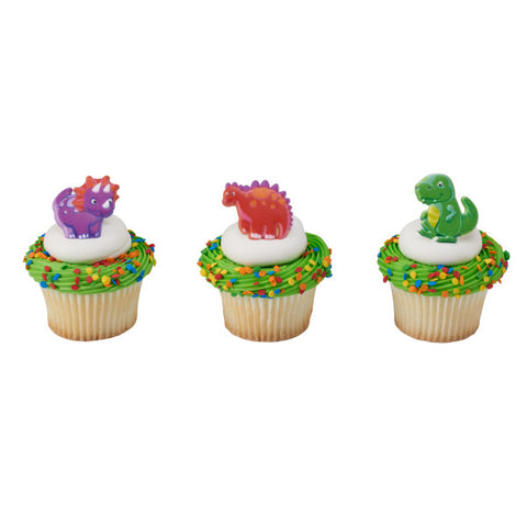 A Birthday Place - Cake Toppers - Dino Pals Cupcake Rings
