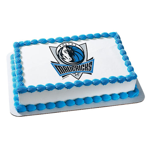 NBA Dallas Mavericks Edible Cake Topper Image