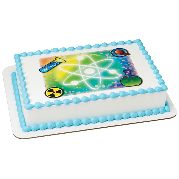 A Birthday Place - Cake Toppers - Science Edible Cake Topper Image