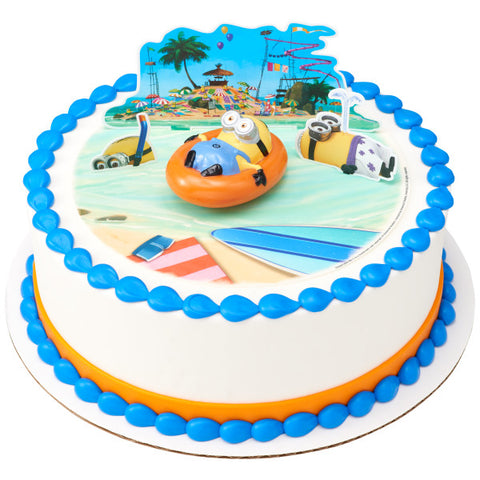 Despicable Me™ Beach Party Edible Cake Topper Image DecoSet® Background