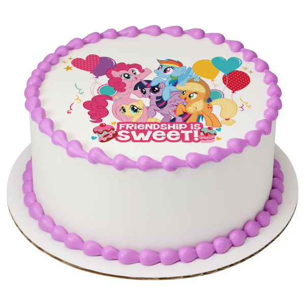 Miraculous My Little Pony Friendship Is Sweet Edible Cake Topper Image A Personalised Birthday Cards Beptaeletsinfo