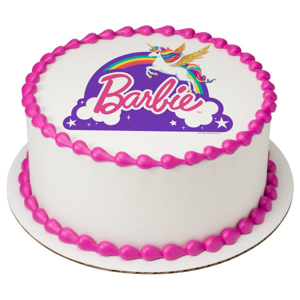 Barbie™ Dreamtopia - Just Believe Edible Cake Topper Image