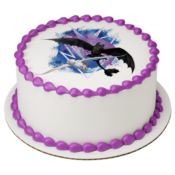 How To Train Your Dragon Fly Free Edible Cake Topper Image