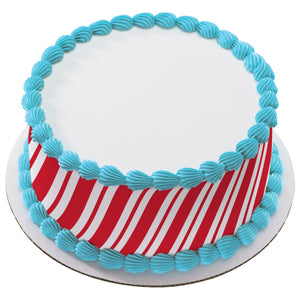 A Birthday Place - Cake Toppers - Candy Cane Stripes Edible Cake Topper Image Strips
