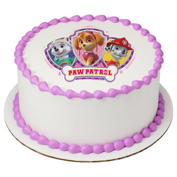 PAW Patrol™ Skye, Everest, & Marshall Edible Cake Topper Image