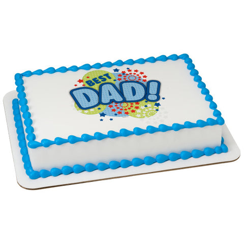 A Birthday Place - Cake Toppers - Best Dad Edible Cake Topper Image