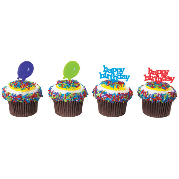 A Birthday Place - Cake Toppers - Happy Birthday and Balloons DecoPics®