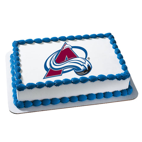 NHL® Colorado Avalanche Team Edible Cake Topper Image