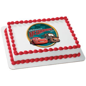 A Birthday Place - Cake Toppers - Cars Victory Lane Edible Cake Topper Image