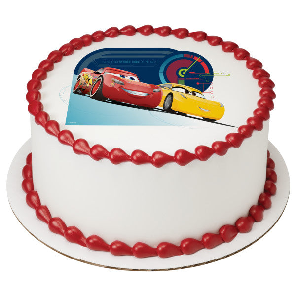 Cars 3 Race Ready Edible Cake Topper Image