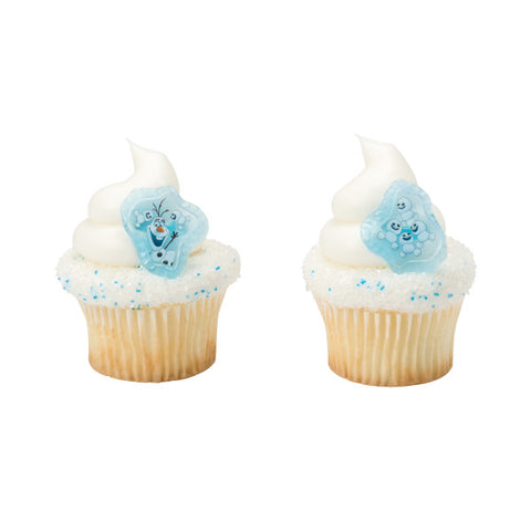 A Birthday Place - Cake Toppers - Frozen Fever Blizzard Buddy Olaf Cupcake Rings