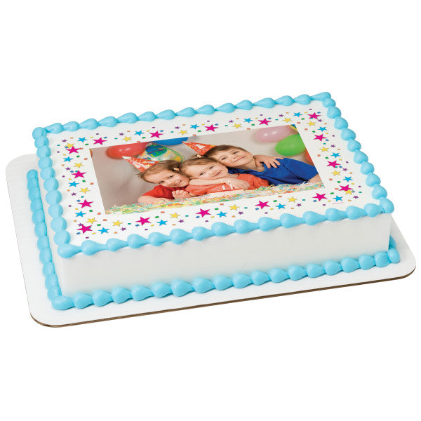A Birthday Place - Cake Toppers - Stars Edible Cake Topper Frame