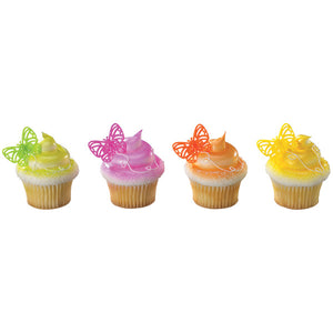 A Birthday Place - Cake Toppers - Bright Butterflies Cupcake Rings