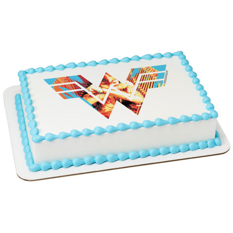 Wonder Woman™ 1984 Fight For Justice Edible Cake Topper Image