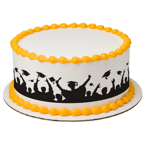 Hats Off Silhouette Edible Cake Topper Image Strips