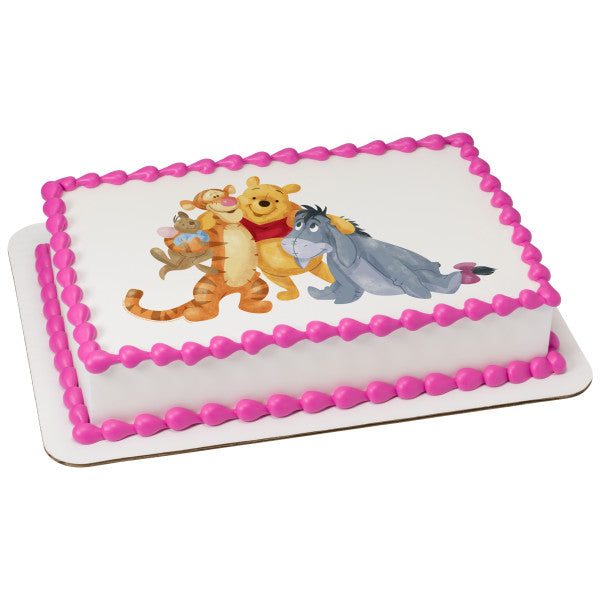 Winnie the Pooh and Friends Edible Cake Topper Image