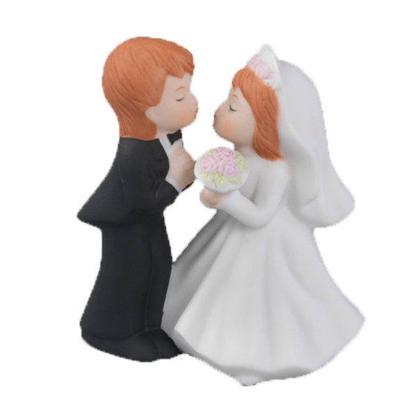 Standing Kissing Couple Wedding Ornament
