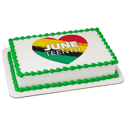 Juneteenth Edible Cake Topper Image