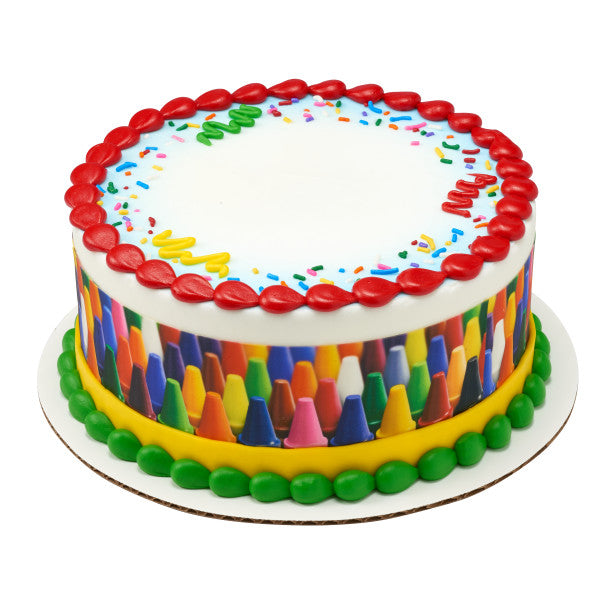 Crayons Edible Cake Topper Image Strips