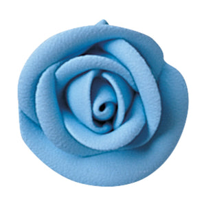 Party Blue Large Classic Sugar Rose Decorations