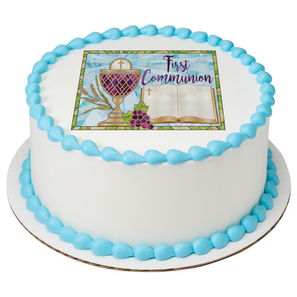 First Communion (1st Communion) Edible Cake Topper Image