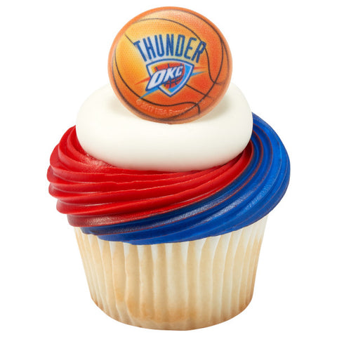 NBA Oklahoma City Thunder Cupcake Rings