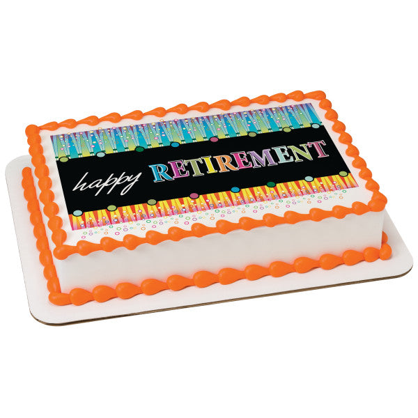 A Birthday Place - Cake Toppers - Happy Retirement Edible Cake Topper Image