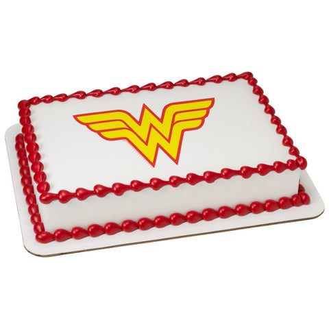 A Birthday Place - Cake Toppers - Wonder Woman Logo Edible Cake Topper Image