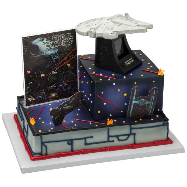 A Birthday Place Cake Toppers Star Wars Millennium Falcon
