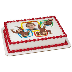 A Birthday Place - Cake Toppers - Curious George® Monkeying Around Edible Cake Topper Frame