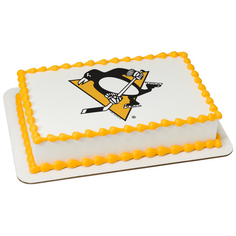 NHL® Pittsburgh Penguins Team Edible Cake Topper Image