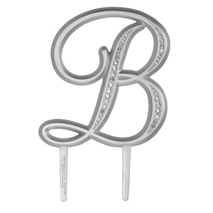 "A Birthday Place - Cake Toppers - 4.5"" B Diamond Letter Monogram"