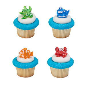 A Birthday Place - Cake Toppers - Beach Cuties Cupcake Rings