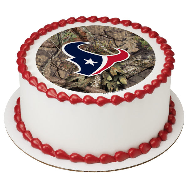 A Birthday Place Cake Toppers NFL Houston Texans Mossy Oak