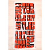 Limited Edition Barry McGee Towel - Red & White Version