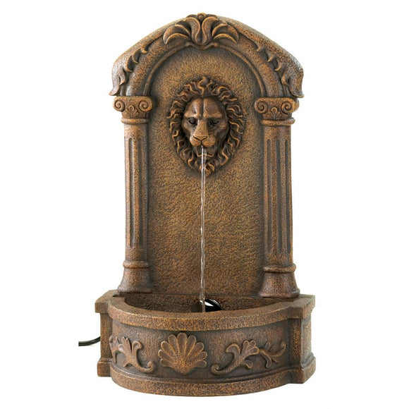 Pond Fountain, Outdoor Garden Water Fountain, Lion Head Courtyard Fountain
