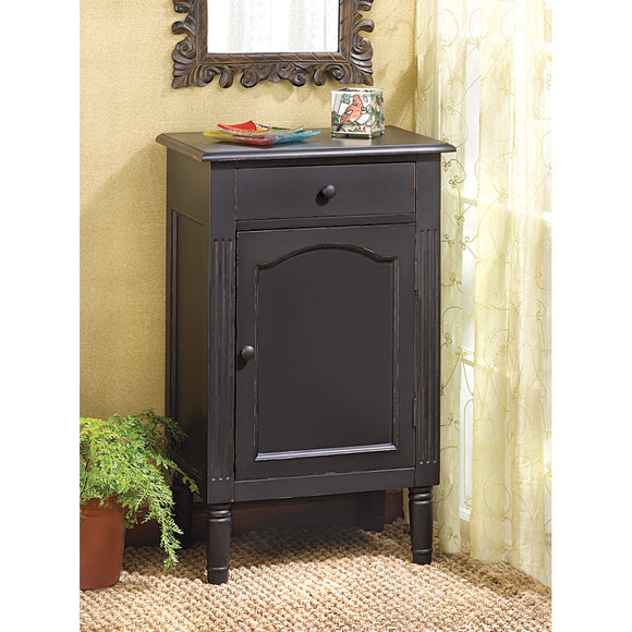 Wood Cabinet, Small Display Bathroom Cabinet Floor With Drawers (black)