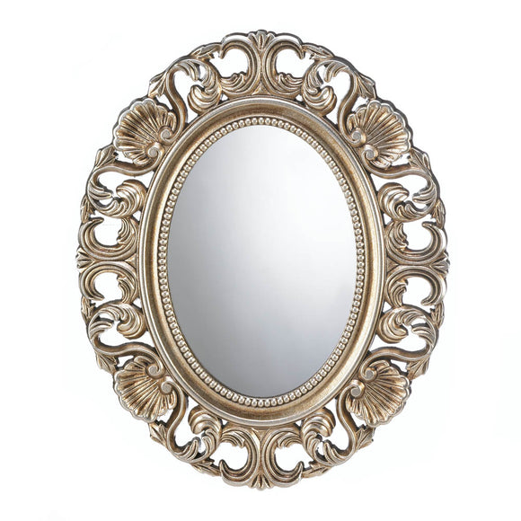 Gold Wall Mirror, Antique Art Round Big Mirrors For Wall Decor